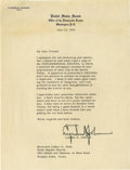 "Autographs:U.S. Presidents, Lyndon B. Johnson Typed Letter Signed. One page, 8"" x 10.5"", U.S.Senate letterhead, June 23, 1959, Washington, D.C., to Rev..."