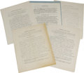 Autographs:U.S. Presidents, Ronald Reagan and William Holden Signed Contracts for the ScreenActors Guild. This lot contains four contracts signed by Ro...(Total: 5 )
