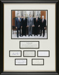 "Autographs:U.S. Presidents, Five Presidential Autographs: Nixon, Ford, Carter, Reagan, andBush. The famous ""Five Presidents"" photograph handsomely fram..."