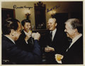 """Autographs:U.S. Presidents, Photograph Signed by Three Presidents, """"Ronald Reagan"""",""""Gerald R. Ford"""", and """"Jimmy Carter"""", 14"""" x 11"""",White H..."""