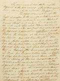 """Autographs:Statesmen, Moses Austin Document Signed: """"Moses Austin"""", four pages, 7.5"""" x 10.25"""", Genevieve, Missouri, July 27, 1813. Moses was a..."""