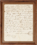 "Antiques:Black Americana, 1827 Selma, Alabama Slave Sale Document. One page, 7.5"" x 9.5"",Selma, Dallas County, Alabama, November 10, 1827, docketing ..."