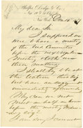 "Autographs:Statesmen, Pair of William E. Dodge Autograph Letters Signed. 1). Signed""W.E. Dodge"", one page, 5.25"" x 8"", Phelps, Dodge &Co... (Total: 2 )"