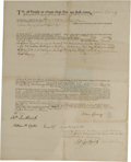 """Autographs:Statesmen, Declaration Signer William Ellery Document Signed. One page, 16.75""""x 13"""", Newport, Rhode Island, May 20, 1776. A Signer of ..."""