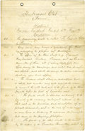 """Political:Miscellaneous Political, John C. Frémont Club Constitution, manuscript document, """"The Fremont Club of Warren"""", two pages on six pages bound with ..."""