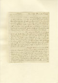 "Autographs:Military Figures, 1778 Secret Revolutionary War Negotiations, Regarding British Prisoners of War. Four pages, 7.5"" x 9.25"", Cambridge Massachu..."