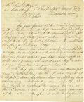 "Autographs:Inventors, Steven Girard Autograph Letter Signed ""Stephn Girard"". Twopages, 7.5"" x 9"", Philadelphia, October 26, 1789, to a Samuel..."