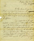 "Autographs:Statesmen, Alexander Hamilton Writes to Declaration Signer William Ellery,1791 Manuscript Letter Signed twice ""Alex. Hamilton"" at ..."
