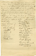 Autographs:Military Figures, Seneca Nation Document Signed. RED JACKET, CORNPLANTER, YOUNG KING,BLACKSNAKE, CAPTAIN BILLY, AND OTHERS. Rare Manuscript D...