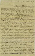 """Autographs:Authors, Francis Scott Key Autograph Letter Signed """"F.S. Key"""". Three pages with integral address leaf, 8"""" x 13"""", Annapolis, Maryl..."""
