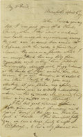 """Autographs:Authors, Francis Scott Key Autograph Letter Signed """"FS Key"""". Three pages with integral address leaf, 8"""" x 13"""", Annapolis, Marylan..."""