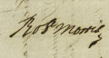 "Autographs:Statesmen, Declaration Signer Robert Morris Document Signed ""Robt.Morris"" on verso, one page, 7.5"" x 4.25"", dated May 8, 1795,Mor..."