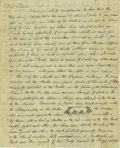 Autographs:Artists, Rembrandt Peale Autograph Letter Signed with Sketch Included.Signed: Rembrandt Peale, three pages with integraladdress...