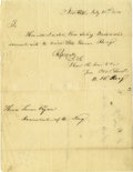 "Autographs:Military Figures, (American Revolution) John Proctor, Pennsylvania militia officer, Autograph Letter Signed ""John Proctor"", one page with ..."
