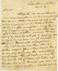 "Autographs:Non-American, Arthur Wellesley, Duke of Wellington Autograph Letter Signed""Wellington"". Two pages, 4.75"" x 7.25"", Westfield, January..."