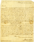 "Autographs:Statesmen, Whiskey Rebellion Negotiator James Ross Autograph Letter Signed.One page, 8"" x 14"" Pittsburgh, March 28, 1799. James Ross ..."