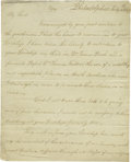 "Autographs:Statesmen, 1809 Benjamin Rush Letter, An Original Copy. Two pages, 7.25"" x 9"",Philadelphia, Pennsylvania, July 4, 1809. This is an ori..."