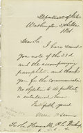 "Autographs:Statesmen, William H Seward Autograph Letters Signed. 1). One page, 5"" x 8"",Department of State, Washington, December 27, 1861.... (Total: 3 )"