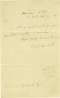 Autographs:U.S. Presidents, Thomas Jefferson (1743-1826) President and author of theDeclaration of Independence, very fine content Autograph LetterSig...