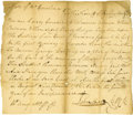 Autographs:Statesmen, John Sevier 1782 Autograph Document Signed as clerk of the Court ofTennessee while it was still part of North Carolina. One...