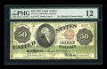 Large Size:Legal Tender Notes, Fr. 148 $50 1862 Legal Tender PMG Fine 12....