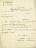 Autographs:Military Figures, Union General Isaac I. Stevens Autograph Letter Signed, one page, on National Democratic Executive Committee Rooms stationer...