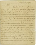 "Autographs:Military Figures, Lord Stirling Autograph Letter Signed ""Stirling"". Six pages,7.25"" x 9"", New York, New York, February 11, 1762. This let..."