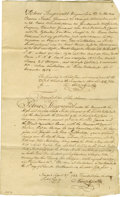 "Autographs:Statesmen, Peter Stuyvesant Document Signed: A COPY. One page, 8.5"" x 14"", TheNetherlands, December 5, 1654. An 18th century copy of a..."