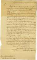 "Autographs:Military Figures, Nathaniel Woodhull Letter Signed ""Nathel Woodhull Presidt"".One page, 8.75"" x 14.5"", New York, March 4, 1776. American R..."
