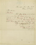 """Autographs:Military Figures, Custer's 7th Cavalry Lieutenant F.M. Gibson Orders Horse to be Shot! Partly-printed Document Signed. One page, 7.5"""" x 9"""", Da..."""