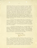 "Autographs:Statesmen, Allen Foster Dulles Typed Letter Signed. Two pages, 8.25"" x 10.5""on American Commission to Negotiate Peace letterhead, [Par..."