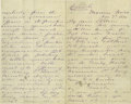 "Autographs:Military Figures, George Armstrong Custer Autograph Letter Signed, ""G A Custer"", 8 pages, 5"" x 8"", Monroe, Michigan, November 7, 1874, to ..."