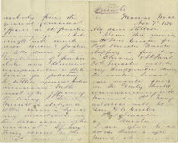 """George Armstrong Custer Autograph Letter Signed, """"G A Custer"""", 8 pages, 5"""" x 8"""", Monroe, Michigan, N..."""
