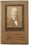 "Autographs:Statesmen, Eugene Debs Photograph Signed ""Yours faithfully, Eugene V.Debs"" on the mat, 7"" x 11"" overall on presentation cardstock..."