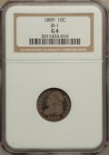 Bust Dimes: , 1809 10C Good 4 NGC. JR-1. NGC Census: (2/39). PCGS Population(3/67). Mintage: 51,065. Numismedia Wsl. Price for problem ...