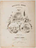 Books:Music & Sheet Music, [Sheet Music]. Francis H. Brown. National Songs of America.Oliver Ditson, 1856. Quarto. Publisher's wrappers. Fair....