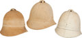 Military & Patriotic:Indian Wars, Group of 3 US Army Model 1881 Summer Helmets... (Total: 3 Items)