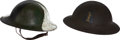 Military & Patriotic:WWI, Pair of U.S. WWI Model 1917 Helmets: 77th Division andCamouflage.... (Total: 2 Items)