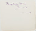 Autographs:Authors, Thomas Bailey Aldrich. Signed Page of Autograph Album. Nearfine....