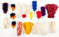 Military & Patriotic:Indian Wars, Group Of Feather Plumes For American Shakos...