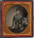 Photography:Ambrotypes, Sixth Plate Tinted Ambrotype of A Cadet. C. 1861....
