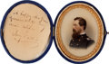 Photography:CDVs, Absolutely Exquisite Portrait Of A Civil War Federal Officer With Presentation To His Wife....