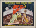 "Movie Posters:Science Fiction, First Men in the Moon (Columbia, 1964). Half Sheet (22"" X 28"").Science Fiction.. ..."