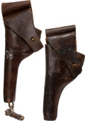 Military & Patriotic:WWI, 2 US Army Leather Holsters... (Total: 2 Items)