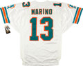 Football Collectibles:Uniforms, Dan Marino Signed Miami Dolphins Upper Deck Authenticated Jersey....