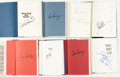 Football Collectibles:Publications, Football Legends Signed Hardcover Books Lot of 8....