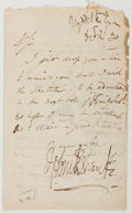 Autographs:Artists, George Cruikshank. Autograph Letter Signed with an Original Sketch of an Incubus. Good....