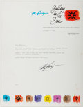 Autographs:Artists, Ted de Grazia. Typed Letter Signed. Good....