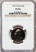Proof Washington Quarters, 1976-S 25C Clad PR69 ★ NGC. NGC Census: (16/0). PCGS Population(3/0). Mintage: 7,059,099....