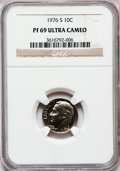Proof Roosevelt Dimes: , 1976-S 10C PR69 Ultra Cameo NGC. NGC Census: (155/7). PCGSPopulation (4837/105). Numismedia Wsl. Price for problem free N...